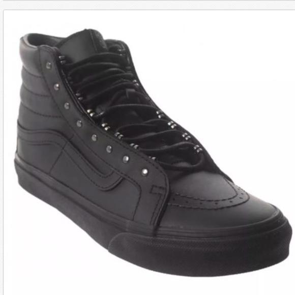 bdad58675fa3df Vans SK8 Hi Slim Rivets Gunmetal Black Shoes. M 5a91d3389d20f075a1b05970